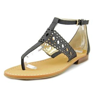 Ivanka Trump Women's Pili Black Leather Low-heel Sandals
