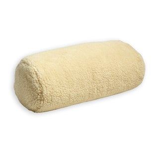 Hermell Products Faux Shearling Neck Roll Pillow