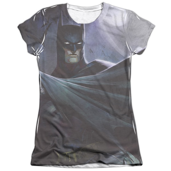 Infinite Crisis/Batman Vs Joker Short Sleeve Junior Poly/Cotton Crew in White