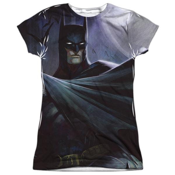 Infinite Crisis/Batman Vs Joker (Front/Back Print) Short Sleeve Junior Poly Crew in White