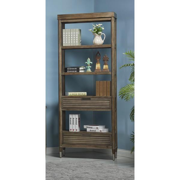 Vancouver Wood/Veneer Etagere Bookcase