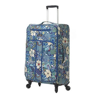 Mia Toro ITALY Fiore 28-inch Expandable Fashion Spinner Upright Suitcase