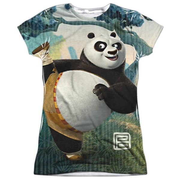 Kung Fu Panda/Training Short Sleeve Junior Poly Crew in White