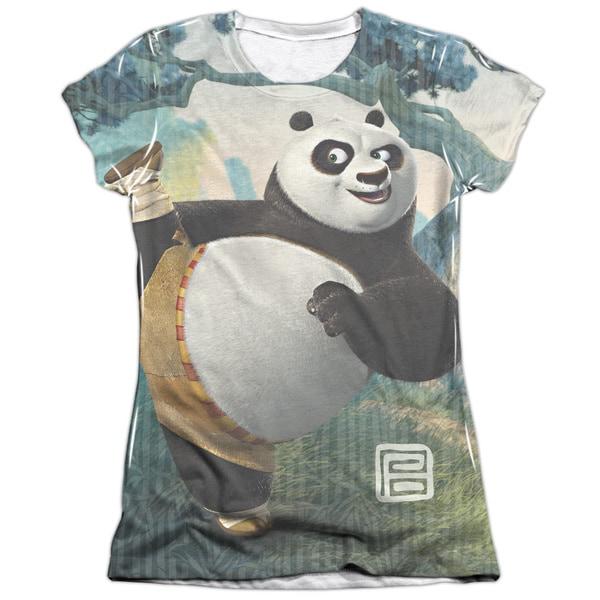 Kung Fu Panda/Training Short Sleeve Junior Poly/Cotton Crew in White