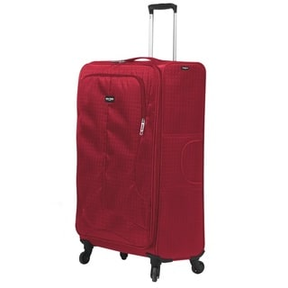 Mia Toro ITALY Apennine Large Red/Black/Grey/Navy Polyester 28-inch Expandable Spinner Upright Suitcase