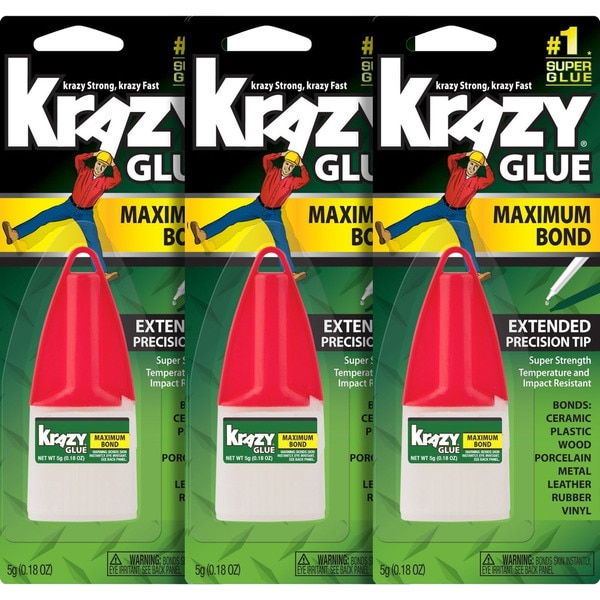 Krazy Glue Advanced Formula Clear 5-gram Instant Glue Bottle