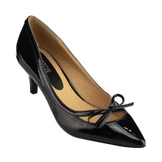 Beston Women's Faux Leather Pointed-toe Heels