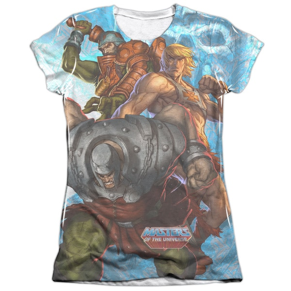 Masters Of The Universe/Heroes and Villains Short Sleeve Junior Poly/Cotton Crew in White