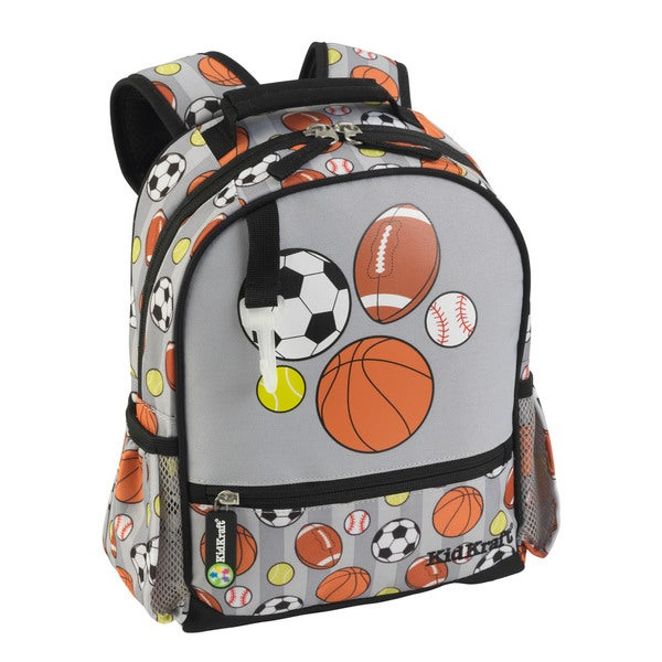 KidKraft Small Sports Grey Polyesterv Backpack
