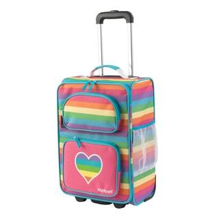 Kid Kraft Rainbow Polyester 18-inch Rolling Suitcase