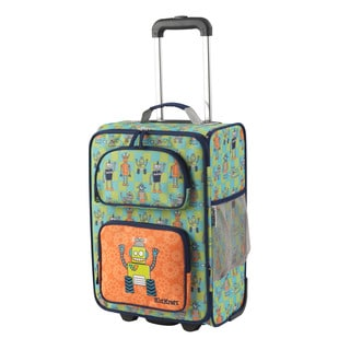 KidKraft Robot Multicolor Polyester 18-inch Carry-on Rolling Suitcase