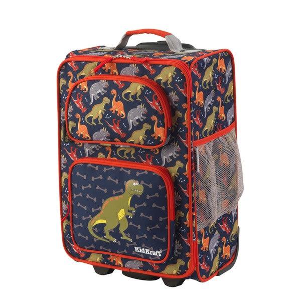 Kid Kraft Dinosaur 18-inch Carry On Rolling Suitcase