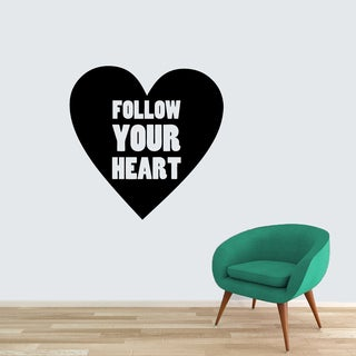 Follow Your Heart Vinyl Wall Decal