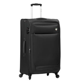 Mia Toro ITALY Corvara Polyester 28-inch Large Expandable Spinner Upright Suitcase