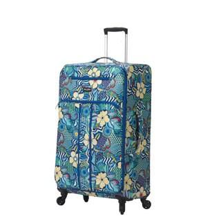 Mia Toro ITALY Fiore Nylon 24-inch Expandable Spinner Upright Suitcase