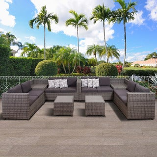 Atlantic Freeport 6 Piece Patio Sectional Set, Grey