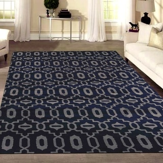 Admire Home Living Bronte Orb Navy Area Rug (7'10 x 10'6)