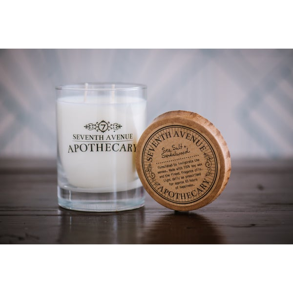 Hand-poured Sea Salt and Sandalwood Artisan Soy Candle