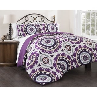 Suzani Royal 3-piece Cotton Duvet Cover Set