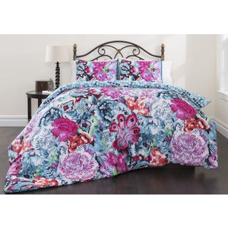 Mosaic Garden 3-piece Cotton Duvet Cover Set