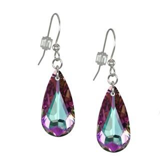 Jewelry by Dawn Light Vitrail Swarovski Crystal Teardrop Sterling Silver Earrings