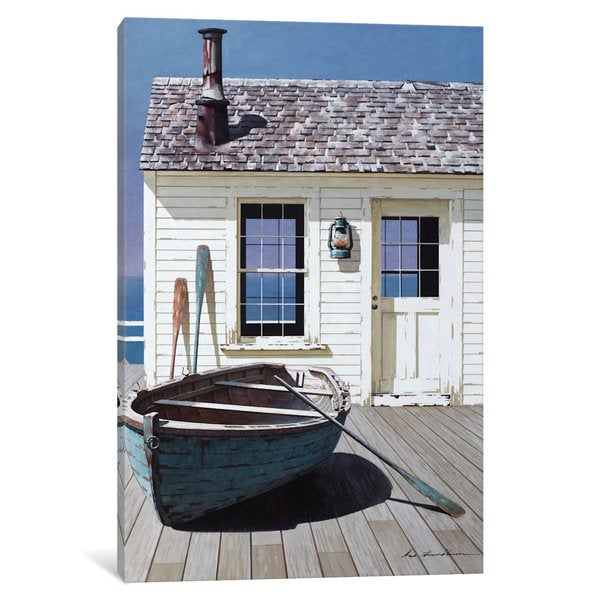 iCanvas Blue Boat On Deck by Zhen-Huan Lu Canvas Print