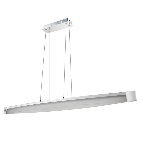 Contempo Lights Tulsa White Aluminum/Acrylic Pendant Lamp