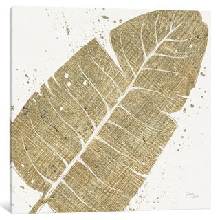iCanvas Gold Leaves IV by Wellington Studio Canvas Print