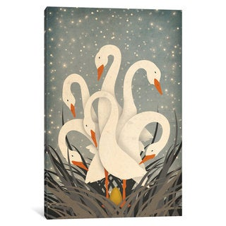 iCanvas Six Geese A Laying by Ryan Fowler Canvas Print