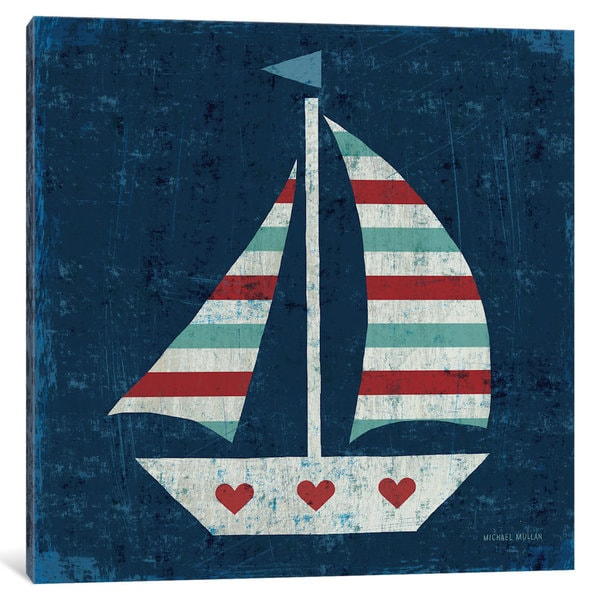 iCanvas Nautical Love (Sail Boat) by Michael Mullan Canvas Print