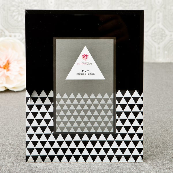 Black and White Glass Geometric Photo Frame