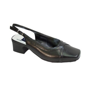 Fic Peerage Tessa Women's Extra Wide Width Leather Pumps