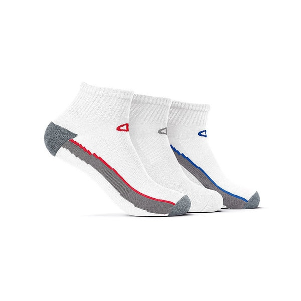 Champion Men's White Polyester and Spandex Ankle Training Socks (Pack of 3)