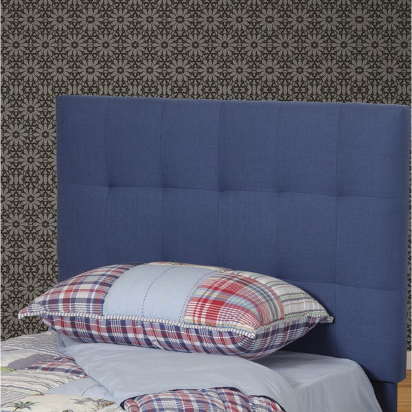 Powell Freya Blue Wood, Polyester and Foam Quilted Twin Headboard