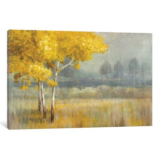 iCanvas Yellow Landscape by Danhui Nai Canvas Print