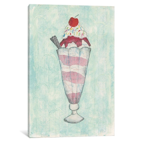 iCanvas Sundae Delight I by Courtney Prahl Canvas Print