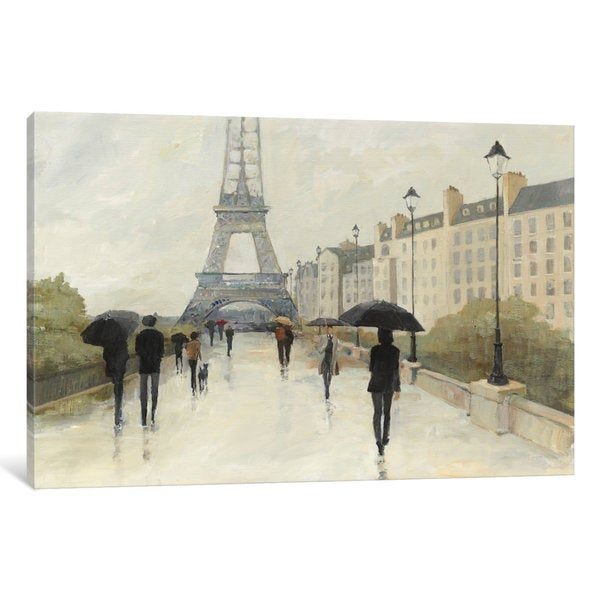 iCanvas Eiffel in the Rain by Avery Tillmon Canvas Print