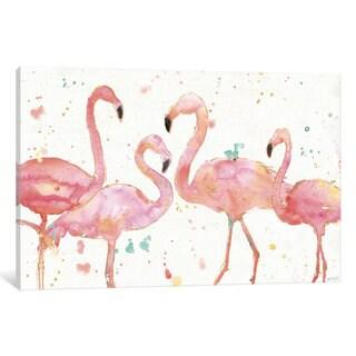 iCanvas Flamingo Fever I by Anne Tavoletti Canvas Print