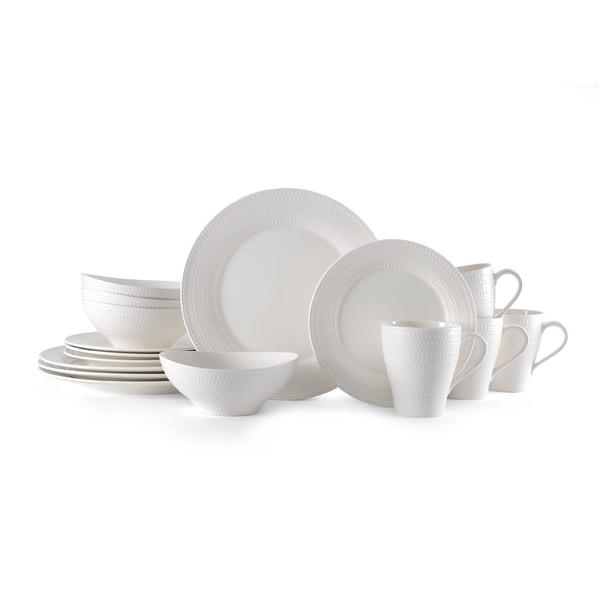 Mikasa Ryder White 16-piece Dinnerware Set