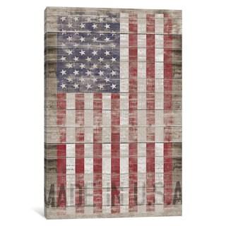 iCanvas American Flag II by Diego Tirigall Canvas Print