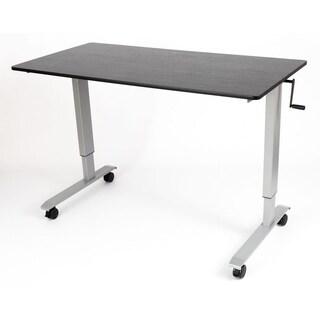Luxor Black/Grey Laminate Steel Crank Adjustable Stand Up Desk