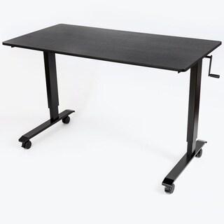 Luxor Black Steel/Laminate Crank-adjustable Stand-up Desk