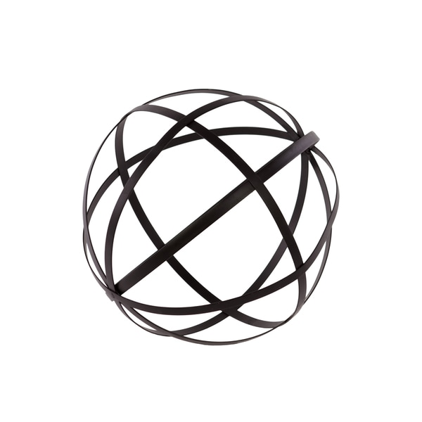 Black Metal Dyson Sphere Decor