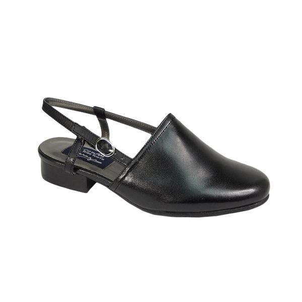 Fic Peerage Remi Women's Extra Wide Width Black Heeled Sandals
