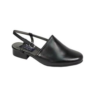 Fic Peerage Remi Women's Extra Wide Width Black Heeled Sandals