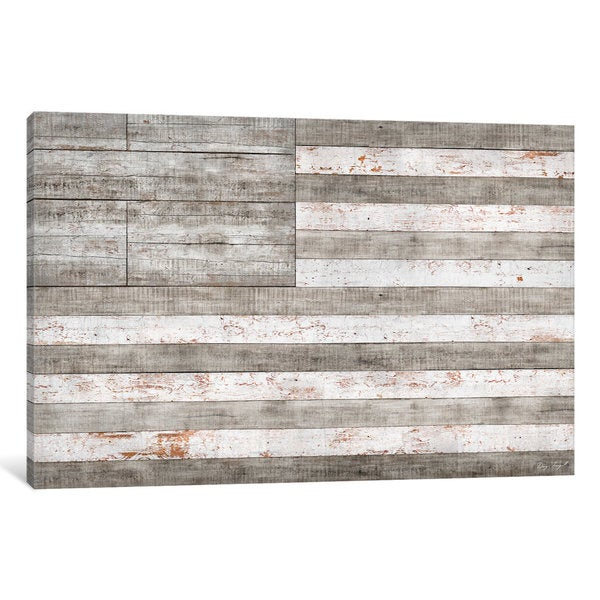iCanvas Stars & Stripes in White by Diego Tirigall Canvas Print
