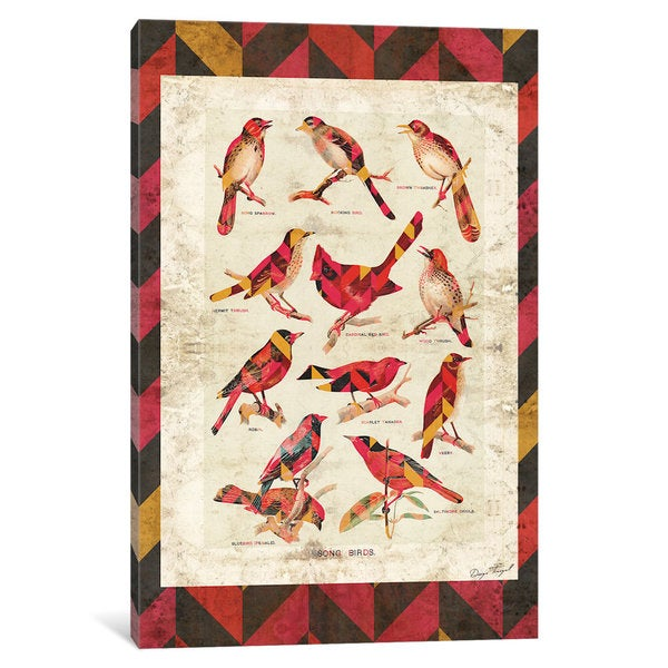 iCanvas Song Birds V2 by Diego Tirigall Canvas Print