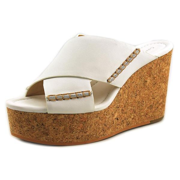 Calvin Klein Jeans Women's Adeli White Leather Sandals