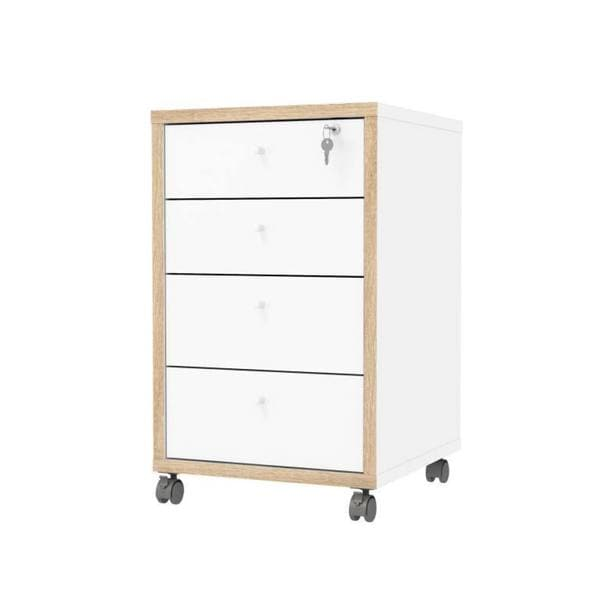 Tvilum Hamilton White MDF 4-drawer Mobile Cabinet