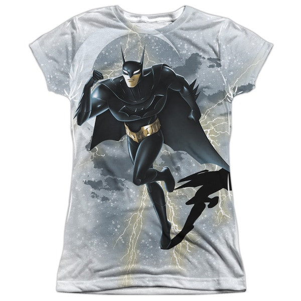 Beware The Batman/Storm Sprint Short Sleeve Junior Poly Crew in White